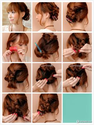 甜美编发发型教程图解