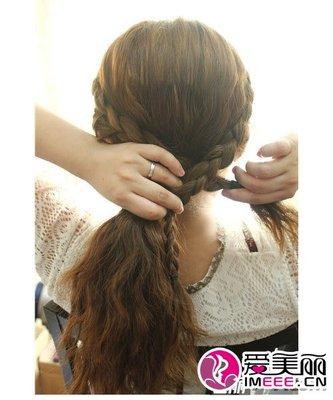 韩式发型盘发教程